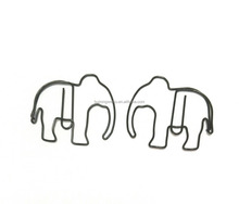 Office Use elephant shaped paper clip PVC plastic coated paper clip