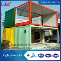 Prefabricated houses container.Light steel contaimer homes,modular flat packed container house