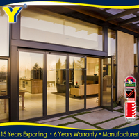 YY Aluminum glass door and window AS2047 portable folding doors room dividers soundproof folding doors for bathrooms