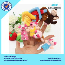 New Funny lovely 8 PCs Family Finger Puppets Cloth Soft Doll Baby plush Toy Puzzle Hand Talking Props Story for Kid childre Gift