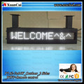 CE RoHS P7.62-7x64White Outdoor IP65 2 faces WIFI LED message sign board display