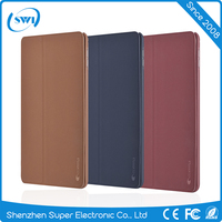 Comma 2016 Factory Wholesale shock proof Customized leather back cover case with stand for Ipad mini 4