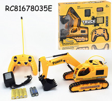 2017 best selling R/C tracked excavator truck toys with flashing for children for sale RC81678035E