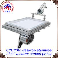 Simple Single Color Vacuum Silk Screen Printing Machine Screen Printing butterfly frame hinge clamp DIY Hobby