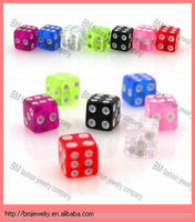 Threaded UV Dice body piercing jewelry accessories wholesale good quality cheap parts replacement