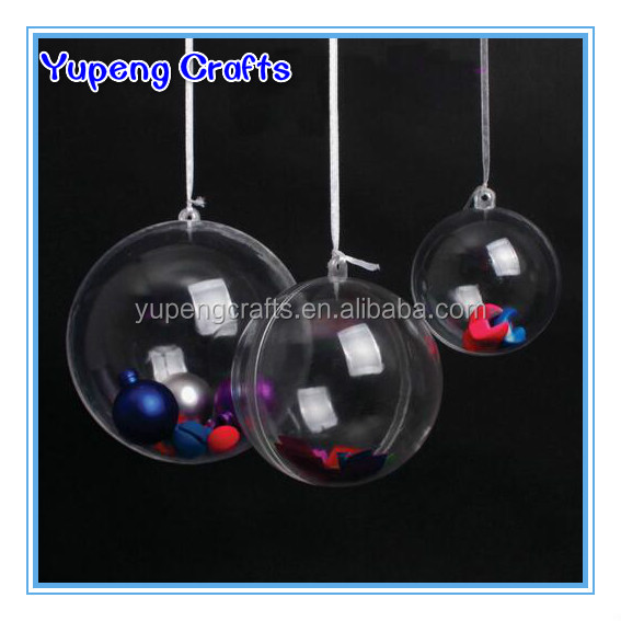 Wholesale Clear Plastic Ball Christmas Ornaments Hanging Glass Hollow Ball