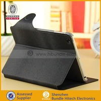 Black & Tan Leather Wallet Smart Flip Case Cover for The New iPad Mini