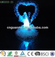 Wholesale handmade led crystal wedding couple figurine