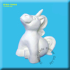 unpainted bisque ceramic unicorn figure