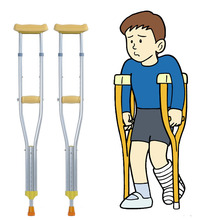 Worry-free purchase cheap orthopedic light weight adjustable aluminum axilary children crutches