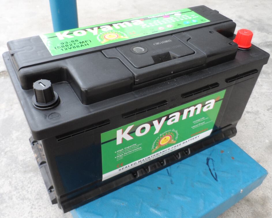 BCI 93 88Ah Car Battery DIN88 For American and Europe Market