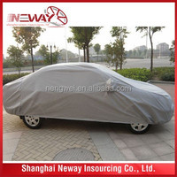 PEVA+COTTON auto waterproof shelter/car cover with extra mirror protection