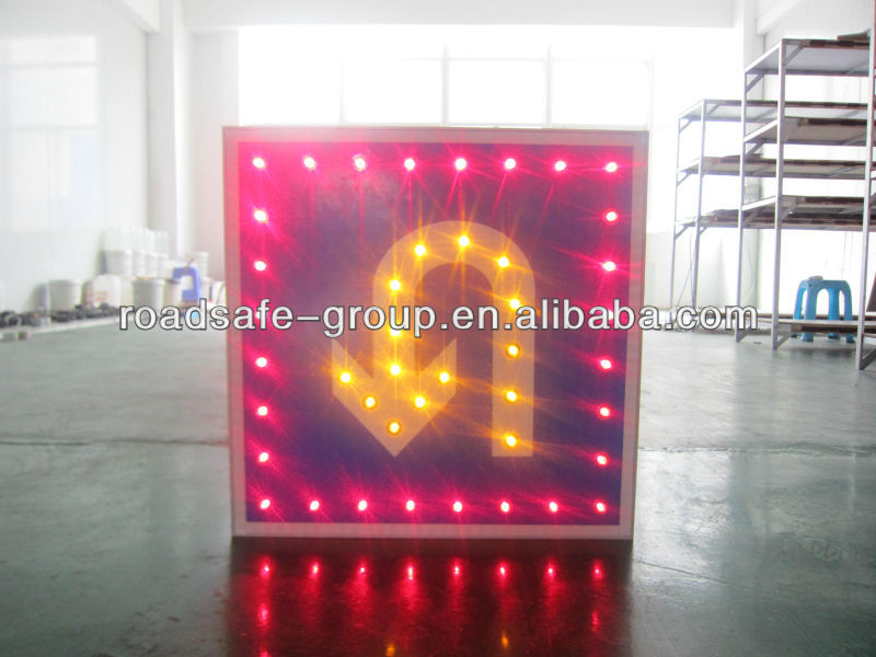 2013 Popular and Custom Made Reflective LED Solar Traffic Sign