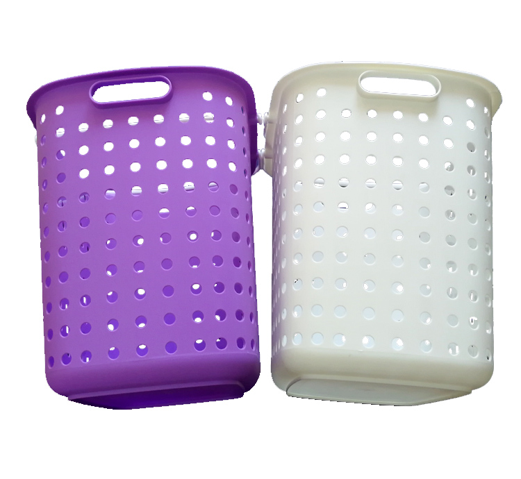 Plastic waste clothing storage basket laundry hamper containers