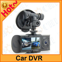 Car DVR with GPS LCD dual camera Car black box and 140,120 degree View angle