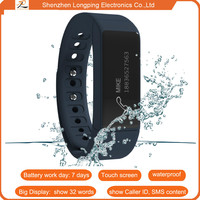 2015 bluetooth smart bracelet with pedometers smart wristband for iphone 6 and samsung galaxy 5