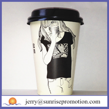 Hot selling design your own disposable paper coffee cup