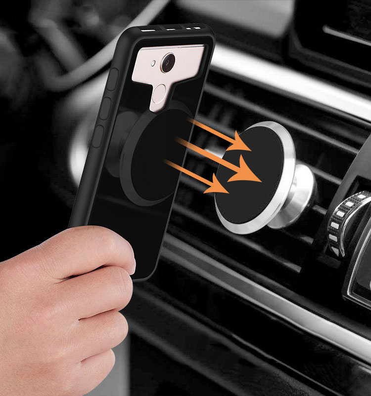 2018 Newest TPU PC Shockproof Universal Phone Case Cover Fit Different Common Phone Work on Car Holder
