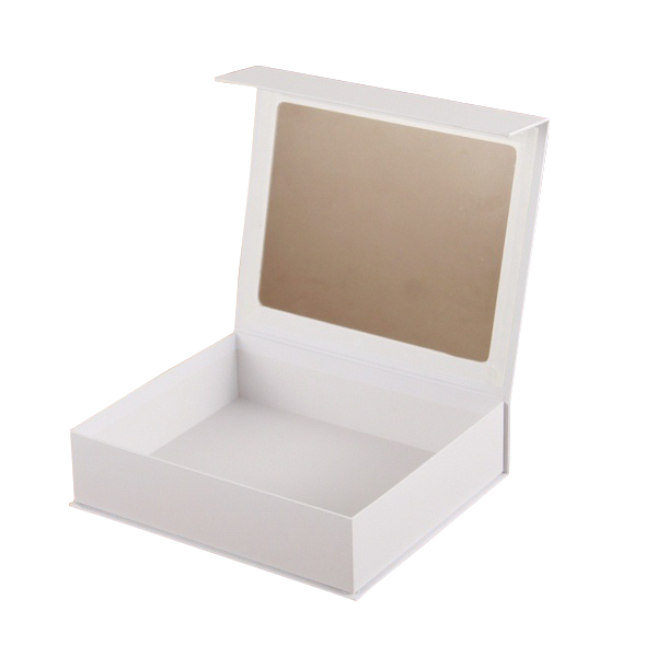 2017 China Supplier Magnetic Closure Cardboard Window Jewelry Box