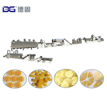 2018 Hot Sale Automatic potato based snack pellets cracker crispy chips extruding machinery production plant