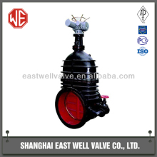 Cast iron non-rising stem electric actuator sewage gate valve