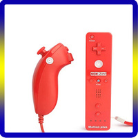 Colorful wireless joystick/game controller nunchuck&remote combo/game pad for nintendo Wii with 2 in 1 motion plus