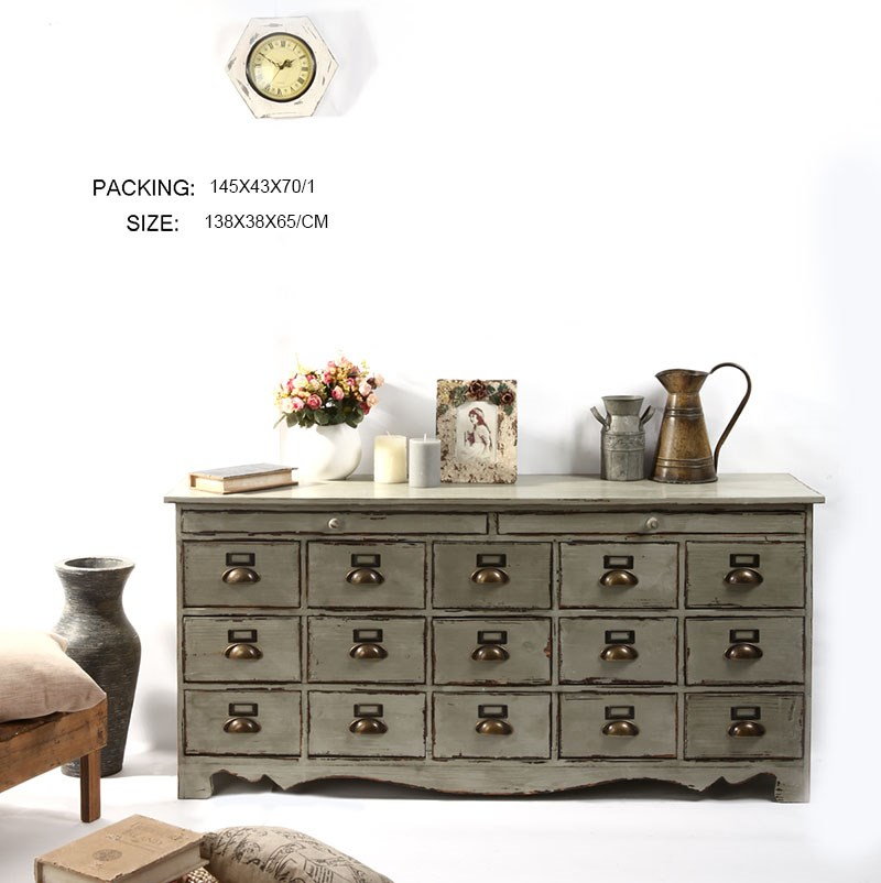 Many Drawers Reproduction French Furniture Wood Vintage