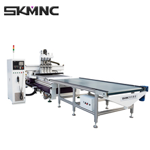 1325 China Cheap Wood Door Making Cnc Router Cutting Machine Production LIne For Kitchen Door and Cabinet