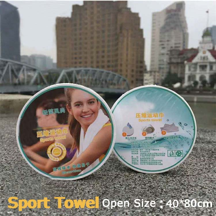 Wholesale Cotton Sports Towels For GYM OEM Quick Dry Disposable Compressed Travel Towels Outdoor Cooling Towel