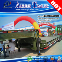 Africa hot sale cargo low bed semi trailer, low flatbed semi trailer truck for Rwanda