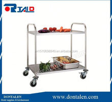 stainless steel kitchen dinning hotel room service trolley utility cart