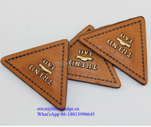 die cut metal logo,leather label with metal logo,bag metal logo
