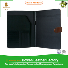A4 leather document folder
