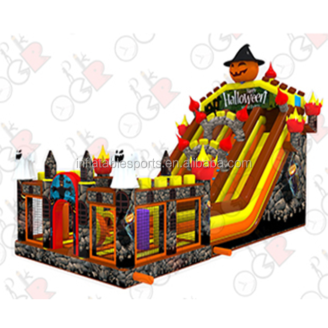 holiday decoration giant Halloween inflatables, Inflatable Halloween slide