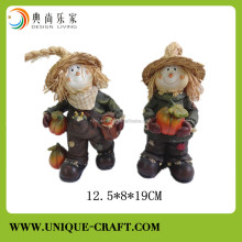 2015 new development straw scarecrow resin decoration figure