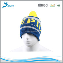 Kids High Quality Pom Pom Wholesale Custom Winter Hats Beanie