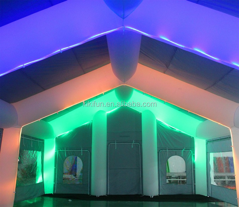 Giant colorful lights inflatable tent/ customized inflatable tent with led light / commercial inflatable party tent