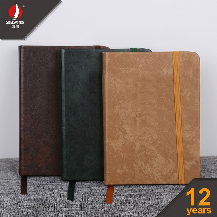 HARD COVER ELASTIC NOTEBOOK fancy chunky notebook with pen