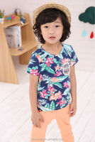 2015 new kids boys 100 cotton t shirts with beautiful printing