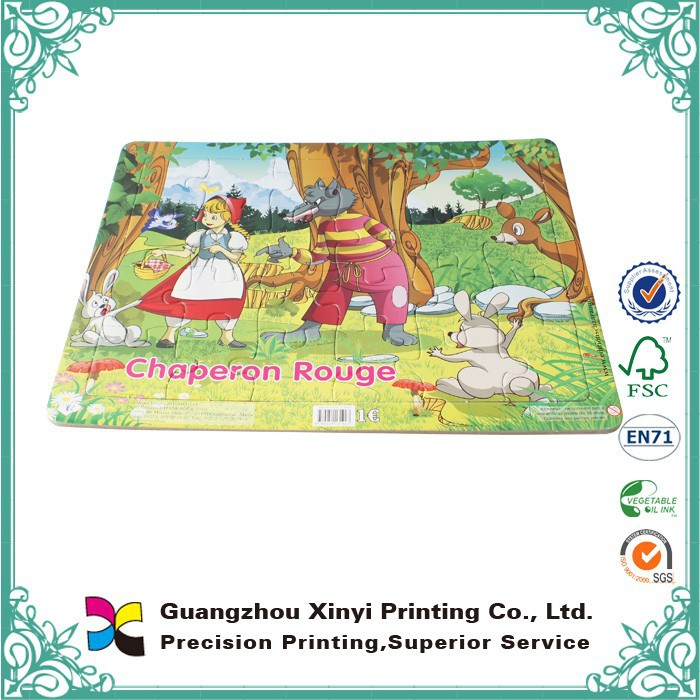 Custom printing handmade large print puzzle book wholesale