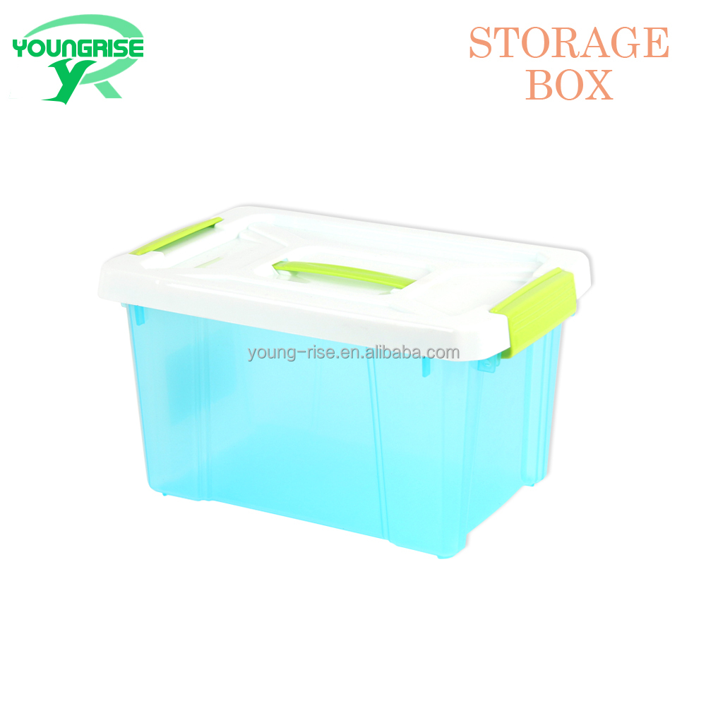 Cheap Price Portable Food Storage Box Clear Plastic Sundries Container with Handle