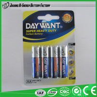 High Performance Efficient Energy Dry Cell Aa Battery R6P 1.5V