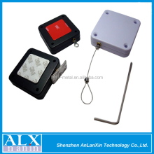 Retractable security cable,loss prevention device,retractable pull box