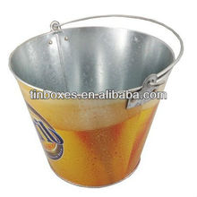 small metal tin buckets