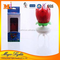 Opening flower candle for sale