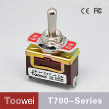 T700 Series SPDT Waterproof Electric Small Toggle Switch ON-OFF-ON 3Pins Toggle Switch
