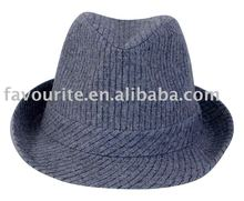 cheap fedora hat with stripe