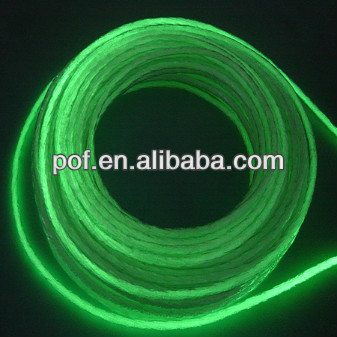 Flexible Outdoor side glow polymer fiber optic , Side Light Optic Fibre