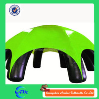 Black legs with green cover inflatable beer tent, usa inflatable tent for advertising