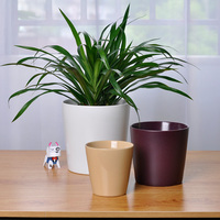 Good size decoration ceramic tapered flower pots in multiple colors
